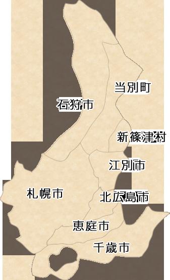 札幌市内近郊の神社マップ