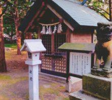 旧狛犬と牛頭天王社