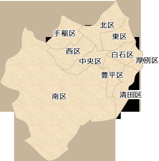 札幌市内の神社マップ